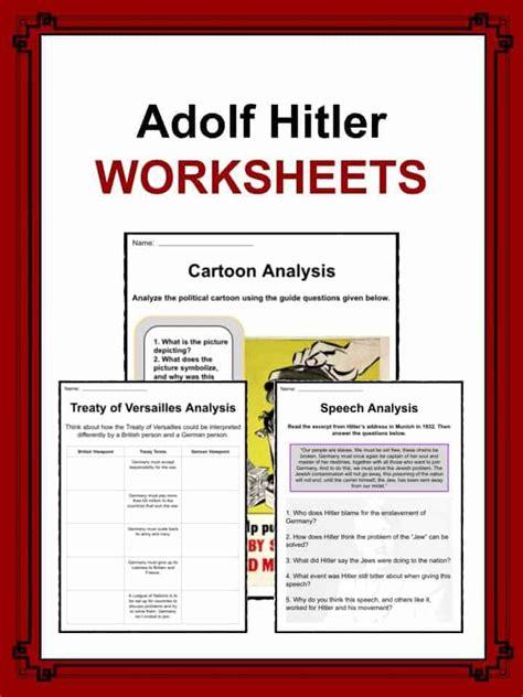 Hitler Biography Worksheet | adolf hitler facts worksheets historic biography for kids