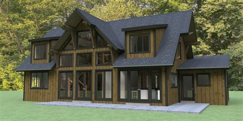 wood frame house plans hybrid timber frame house plans
