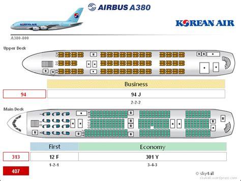 airbus a380 floor plan image gallery korean air a380 layout