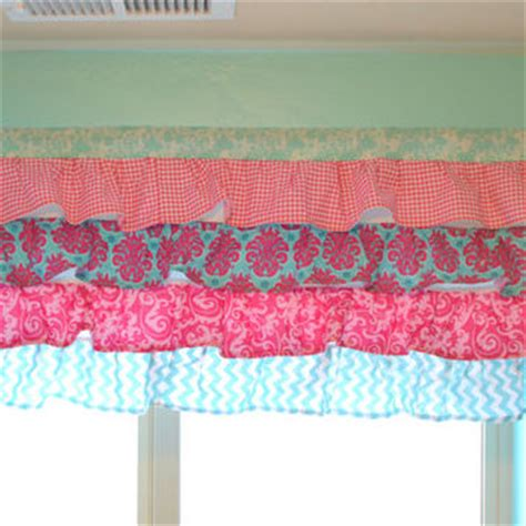 pink and turquoise curtains shop pink ruffle curtains on wanelo