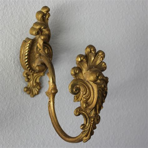 antique curtain holdbacks antique gilded bronze drapery curtain tie backs tiebacks