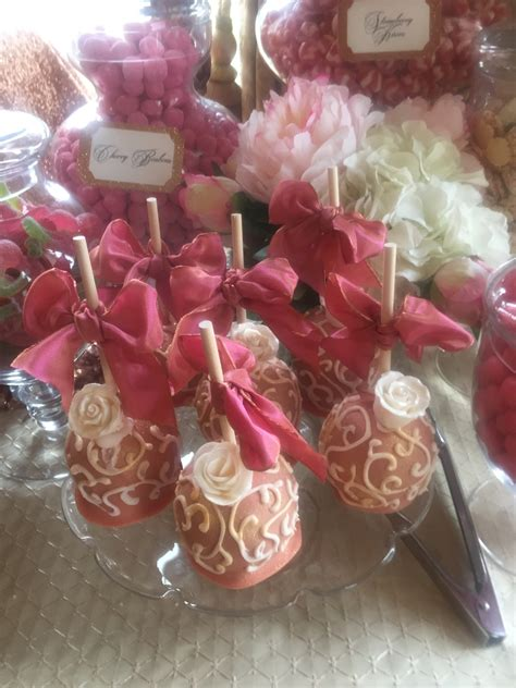 Wedding Dessert Table In Gold And Corals Buffets L