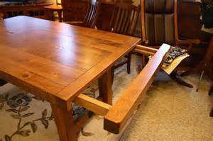 Oak Dining Room Tables Settler S Trestle Table Ohio Hardwood Furniture