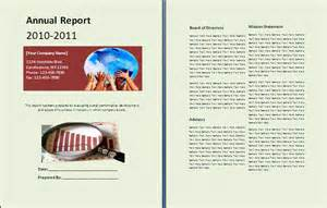 Templates For Annual Reports Free Annual Report Template Free Reports