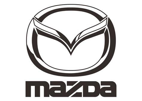 mazda emblem mazda logo vector part 2 black white automaker company