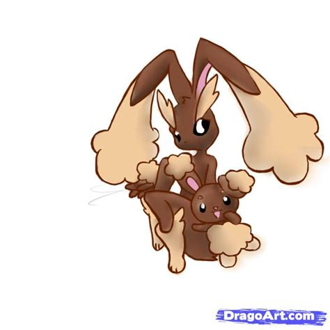 How to Draw Buneary and Lopunny, Pokemon, Step by Step ... Lopunny