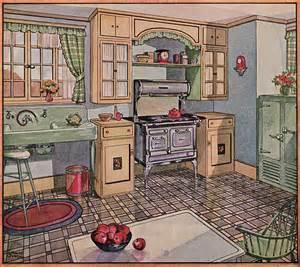 1930s Kitchen Floors by 1928 Kitchen In American Home Here S My New Favorite
