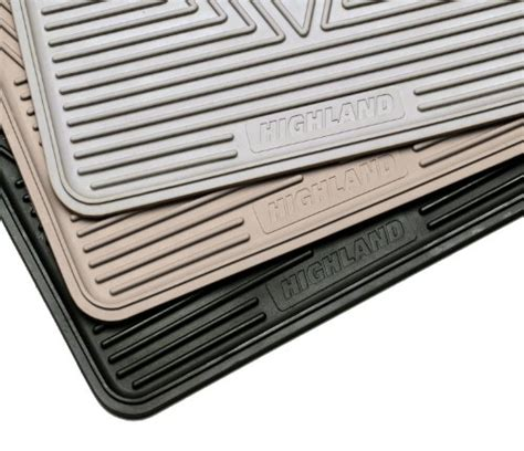 Highland All Weather Floor Mats by Highland 4502200 All Weather Gray Front Seat Floor Mat