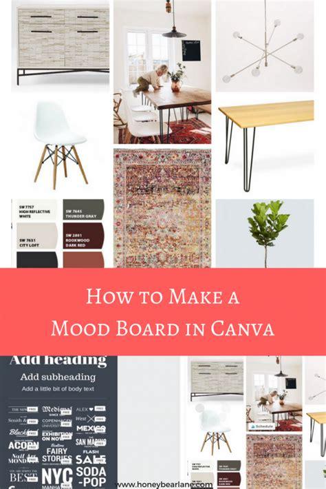 canva moodboard how to make a mood board in canva honeybear lane