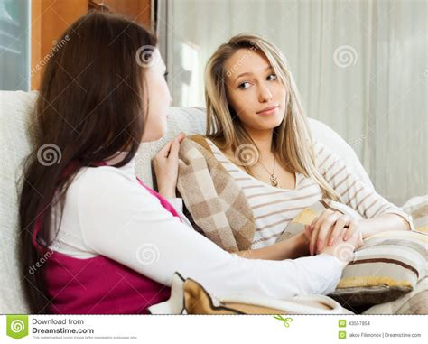comforting crying girlfriend woman comforting crying friend stock photo image 43557954
