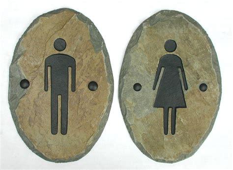 bathroom plaques slate bathroom signs stone door plaque ladies men
