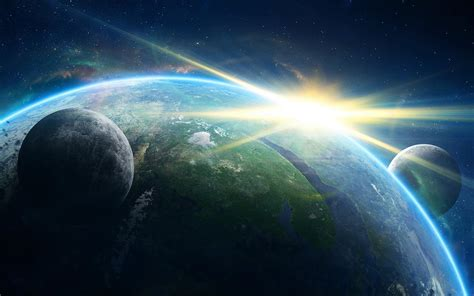 Cosmos Sci Fi Earth Atmosphere Moon Plantets Star Sunlight | hd cosmos sci fi earth atmosphere moon plantets star