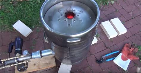 backyard steel furnaces become a backyard blacksmith with a diy recycled beer keg