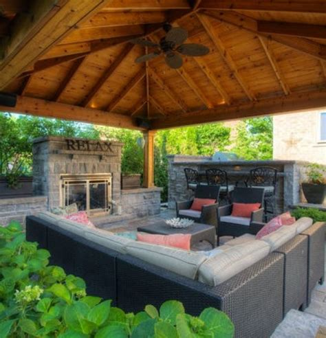 backyard gazebo with fireplace backyard patios and pergolas