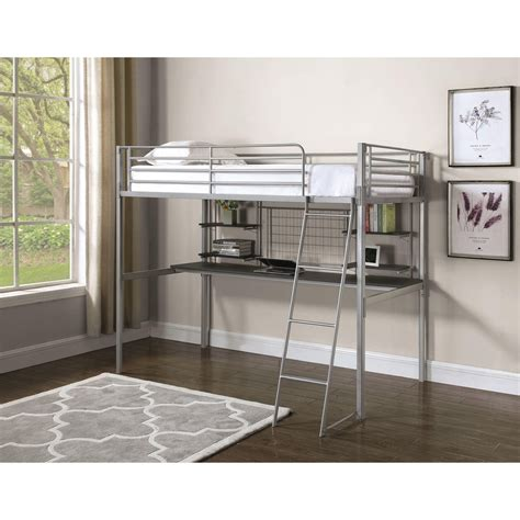 coaster twin loft bed with desk coaster boltzero contemporary twin loft bunk bed with
