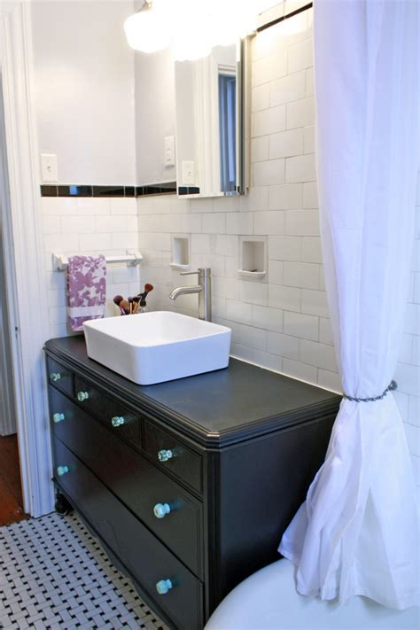 how to turn a dresser into a bathroom vanity turn a vintage dresser into a bathroom vanity