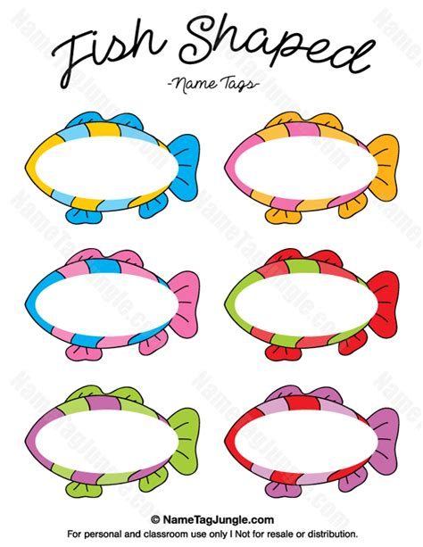 printable shapes name tags free printable fish shaped name tags the template can