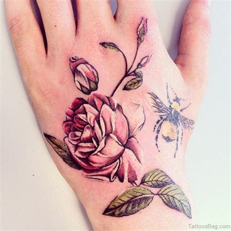 flower tattoo in hand 50 cute flower tattoos on hand