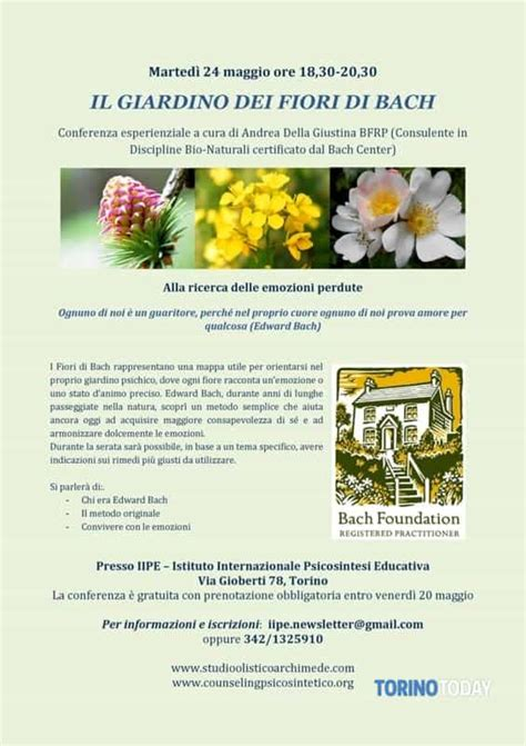 fiori di bach torino quot il giardino dei fiori di bach quot il 24 maggio eventi a torino