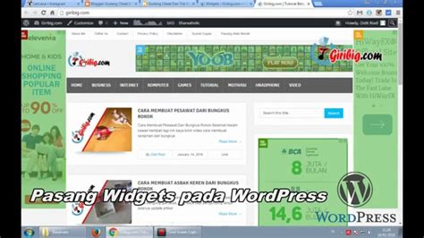 cara membuat widget youtube di wordpress cara pasang widgets instagram di blogger dan wordpress
