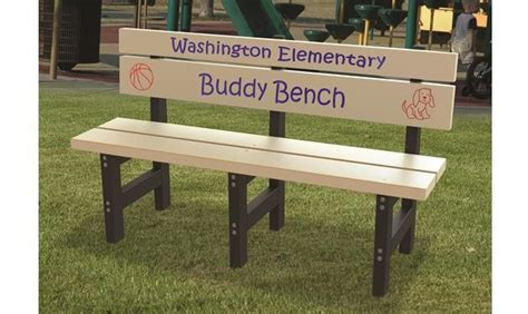 buddy bench sign buddy bench for little buddies treetop products