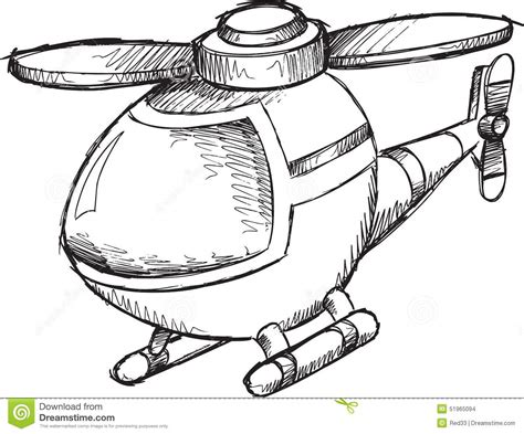 doodle helicopter doodle helicopter vector stock vector image 51965094