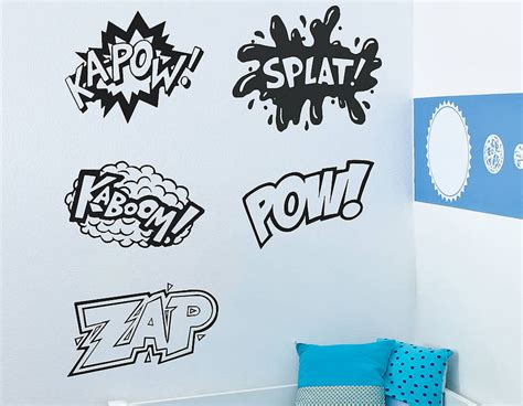 wall sticker words comic words vinyl wall stickers contemporary wall stickers