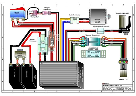 electric scooter throttle wiring diagram get free image