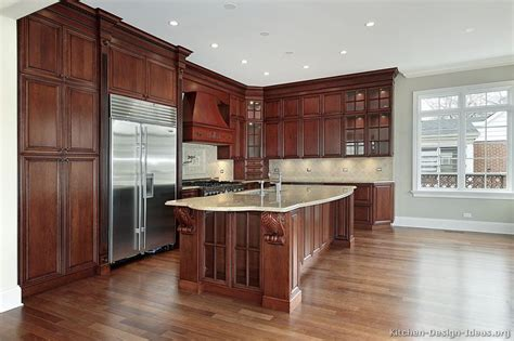 kitchen pictures cherry cabinets pictures of kitchens traditional dark wood kitchens