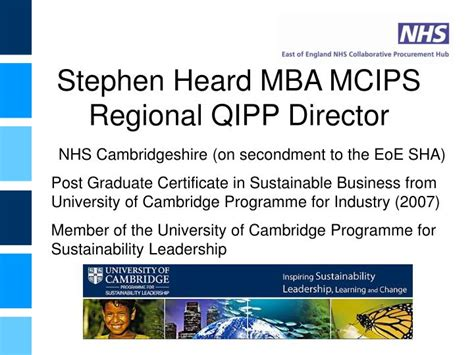 Nhs Mba by Ppt Sustainable Procurement Forum Powerpoint