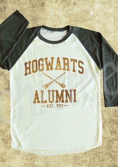 T Shirt Kaos Hogwarts Alumni hogwarts alumni tshirt harry potter shirt shirt t shirt unisex t shirt raglan