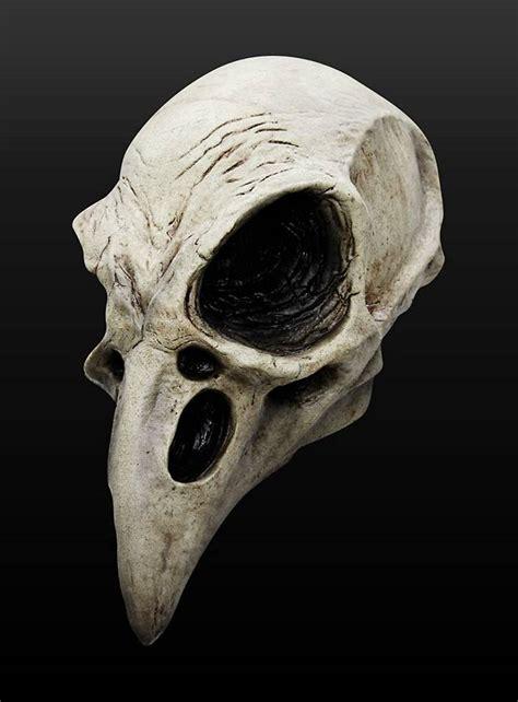 Eye Decorations Raven Skull Latex Full Mask Maskworld Com