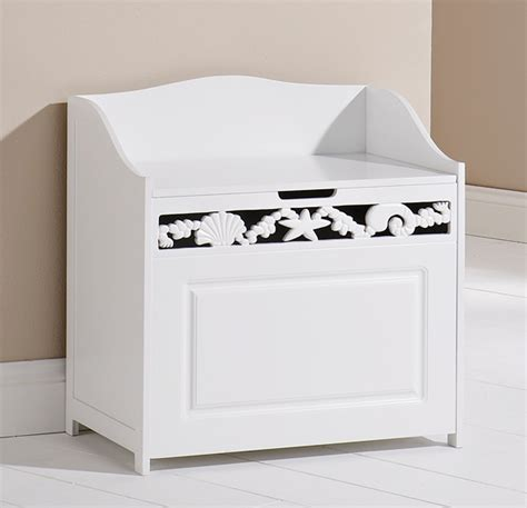 white bathroom ottoman storage chest towel cupboard wooden