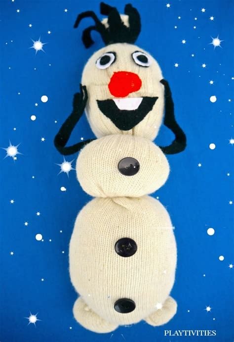 how to make olaf from a sock playtivities