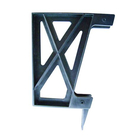 metal bench brackets peak products plastic deck bench bracket in black 2600