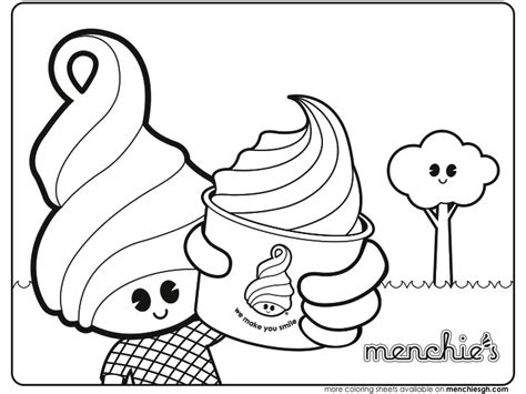 frozen yogurt menchie s coloring pages frozen best free
