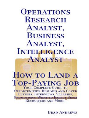 Operation Research Letter Journal Operations Research Analyst Business Analyst Intelligence Analyst How To Land A Top Paying
