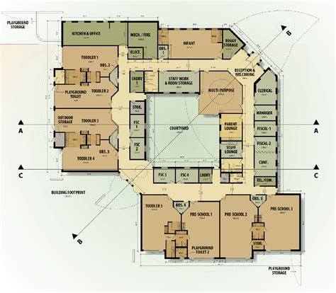 floor plans medical academic center conceptual floor plan daycare school pinterest