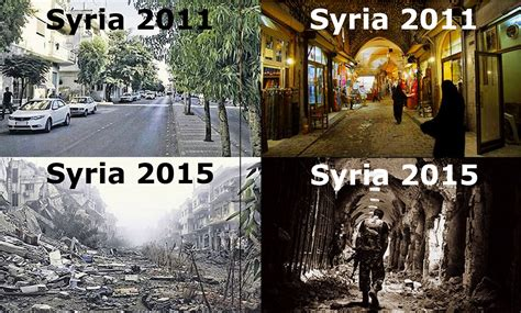 syria before and after syria four years on shocking images of a post us