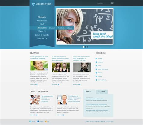 university website templates university website template 37519