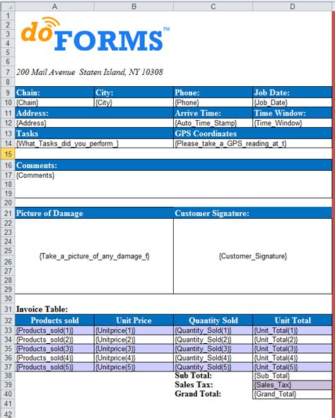 Excel Form Template excel templates for custom formatting of form data