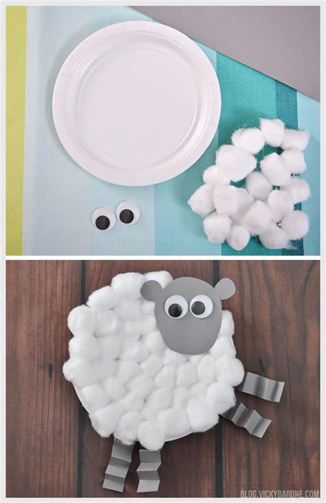 Paper Plate Sheep Craft - easter craft barone