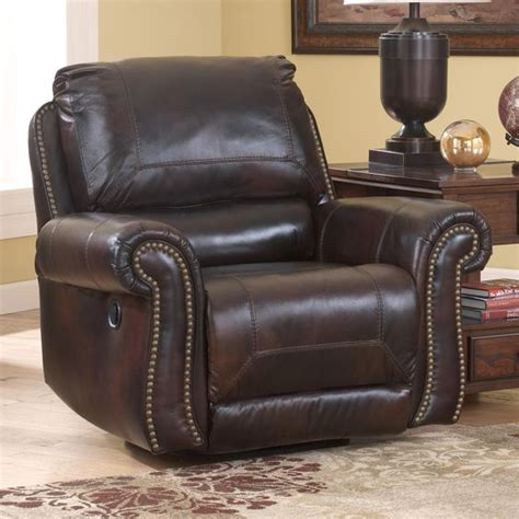 leather glider rocker recliner dexpen saddle leather match swivel glider recliner with