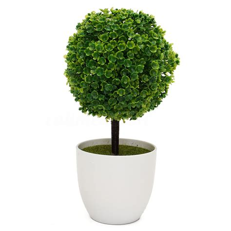 Artificial Topiary Tree Amp Ball Plants In Pot Garden Home Outdoor Artificial Plants Ebay