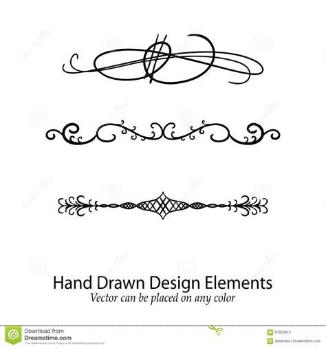 design elements of text media fancy lines 4 vector illustration cartoondealer com
