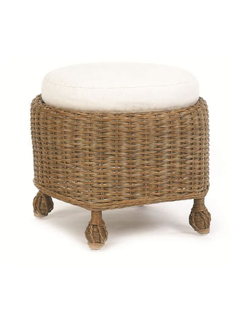 cottage style chairs and ottomans cottage wicker round inset ottoman cottage home 174