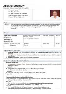 cv resume alok choudhary diploma mechanical engineering fresher 2013 resume format for diploma mechanical engineers freshers pdf bestsellerbookdb