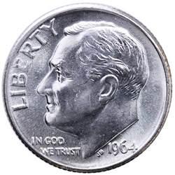 1964 d roosevelt dime 90 silver bu us coin ebay