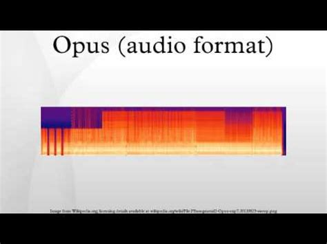 format audio video youtube opus audio format youtube