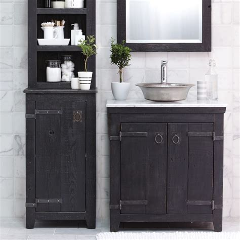 24 quot 36 quot americana reclaimed wood single vanity cabinets anvil finish native trails